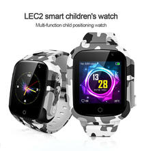 LEC2 Children Kids Smart Watch Call SIM GPS Location WIFI GSM SOS IP67 For Android Boy Girls Cute Smartwatch Phone Voice Chat(China)