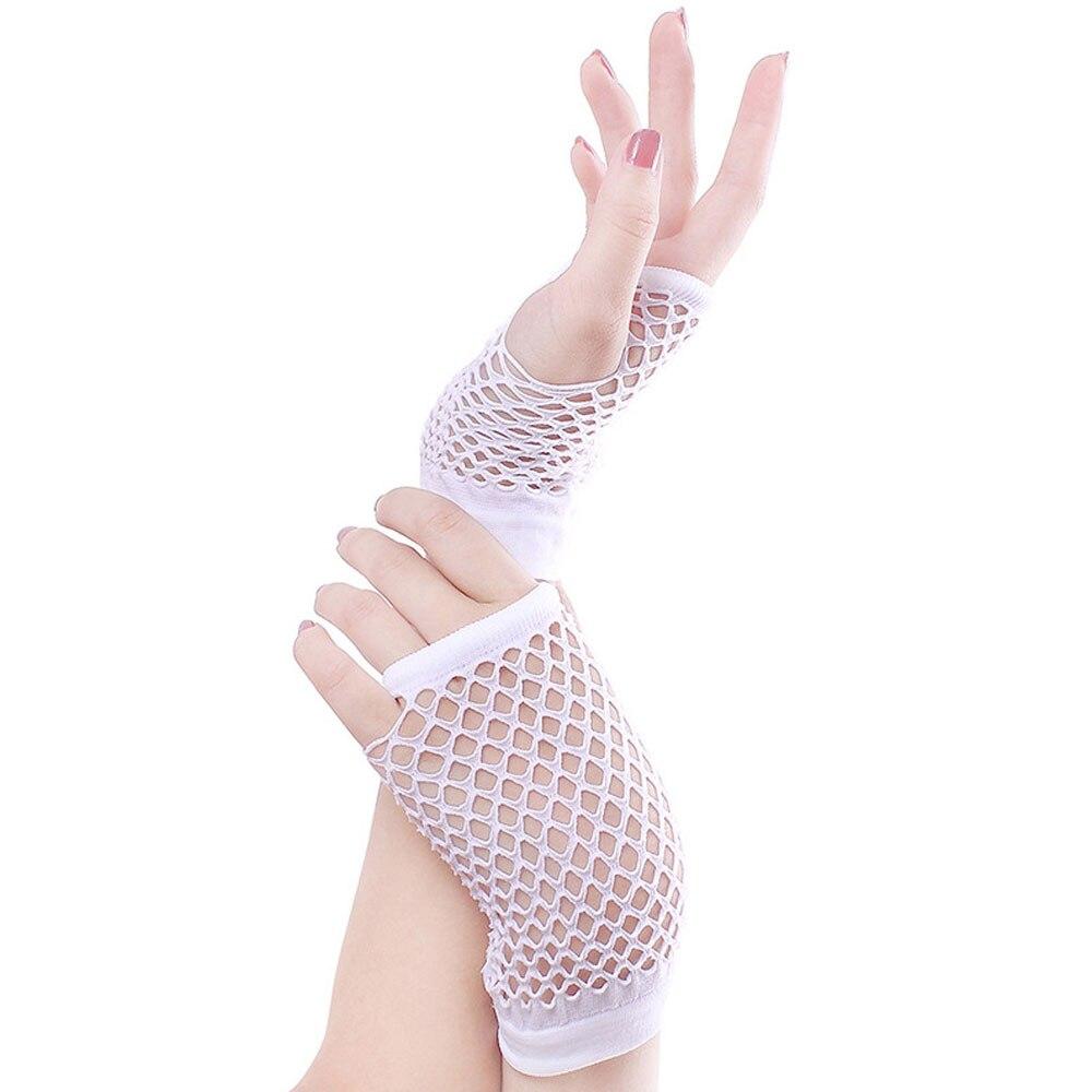 L.Mirror 1Pair Sexy Half Length Fingerless Fishnet Gloves for Etiquette Nightclub Wedding Dance