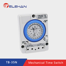 TELEHAN 24 hours Timer, 24h time switch,  TB35-N mechanical switch,Mechanical timer switch,24 mechanincal switch