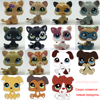 LPS CAT 3CM MINI Custom-made Baby Kitten Puppy for Pet Shop Toy Short Hair Cat Dog Collie Great Dane Spaniel Dachshund LPSCB цена 2017