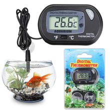 Fish Tank Waterproof LCD Digital Thermometer Aquarium Reptile Thermometer With Probe For Submersible Water Temperature Meter D20