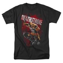 Deathstroke saltando camiseta moda estilo simples camisa para homem legal casual manga curta