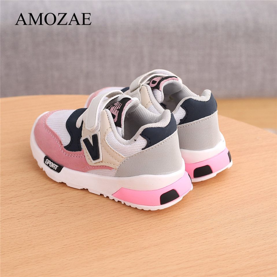 Spring Autumn Kids Shoes Baby Boys Girls Children's Casual Sneakers Breathable Soft Anti-Slip Running Sports Shoes Size 21-30 4