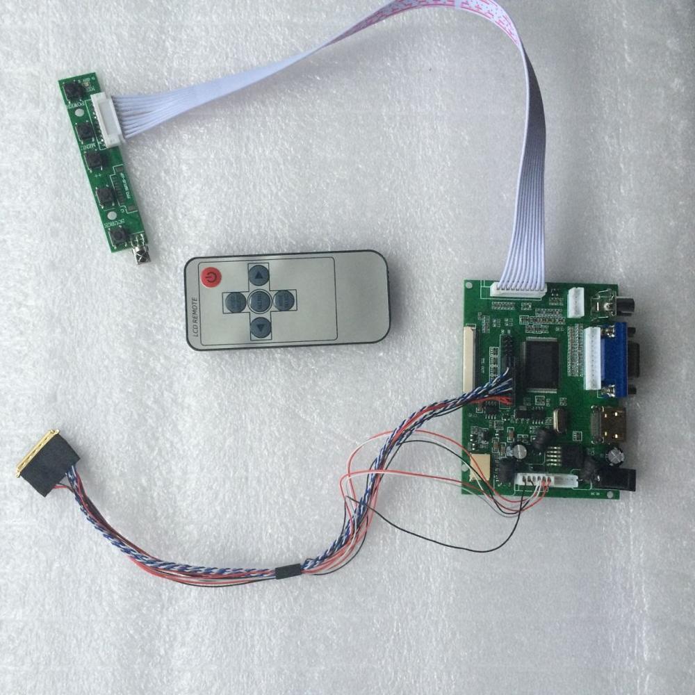 2AV Panel Display Remote B116XAN02.3/BT156GW02/HSD101PFW2/B101AW03 Controller Board LCD Screen LED HDMI VGA Kit Work
