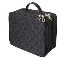 Beautician ที่จำเป็นกระเป๋าเครื่องสำอาง Double Layer กล่องผู้หญิงความงาม Vanity Make Up เครื่องมือ Organizer Travel Storage