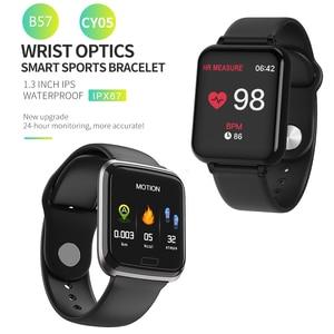 Image 2 - Bluetooth Smartwatch Sport Watch B57 Wrist Watch Blood Pressure Watch For Men Women Waterproof Watches Pedometer Smart Wristband