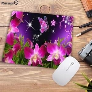 Image 3 - Mairuige تعزيز كبير كول جديد جميل زهرة فراشة لوحة المفاتيح الألعاب مسند الماوس حجم صغير ل 18X22CM المطاط موسيماتس