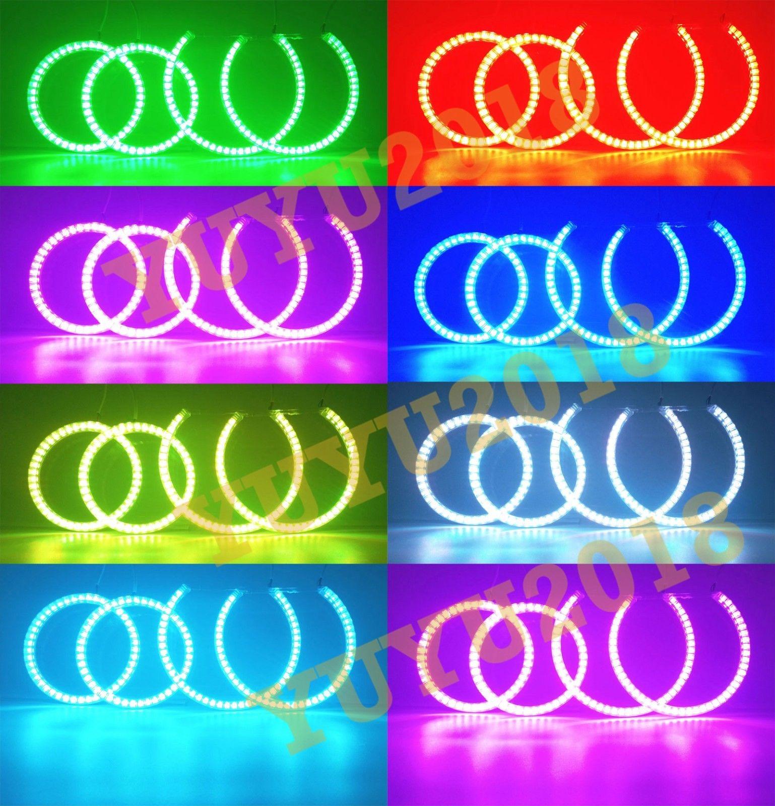 Cotton RGB Halo Rings For BMW E87 E88 1 Series LED Demon Devil Angel Eyes Corona