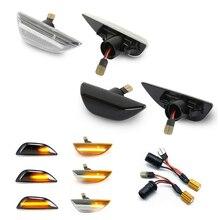 2x dynamiczne światła obrysowe Led płynący sygnał skrętu sekwencyjna lampka migacza dla opla Mokka X Chevrolet Trax 2013 ~ 2020 Buick Encore