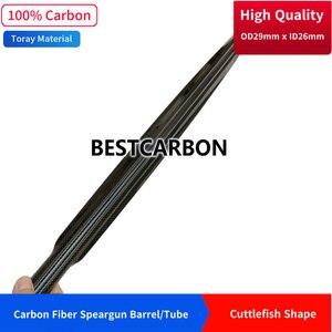 Image 1 - Hohe qualität tintenfisch Form 29mm x 26mm 3K Carbon Fiber speerfischen barrel, harpune rohr, angeln pistole rohr, railguns, CFK Rohr