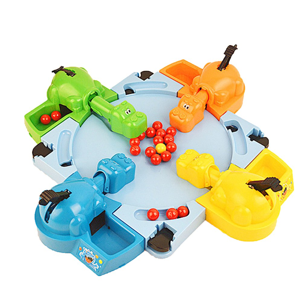 Hungry Hippo Swallowing Marbles Interactive Educational Toys Early Education Double Competitive Game Kids' Marble Game
