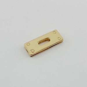 Image 4 - 20pcs 44X16mm Oro Tono Argento quadrato anello di tenuta per la borsa borse cinghie della cinghia del braccialetto collegare in metallo, lega di occhielli con viti