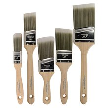 Oblique Paint-Brushes Oil-Art-Supplies Acrylic Wood for Wall Different-Size Wooden-Handle