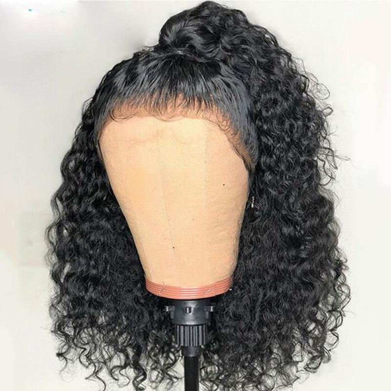 360 Lace Frontal Wig Pre Plucked With Baby Hair Brazilian Curly Lace Front Human Hair Wigs For Women 180 Black Ever Beauty Remy
