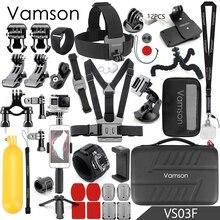 6 5 Vamson para Gopro hero Acessórios Conjunto Grande Caixa de Coleta Monopé para Gopro hero 5 4 para SJCAM para yi câmera Esporte VS03 4 k