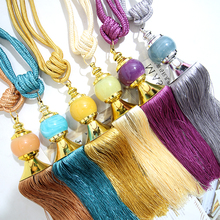 A Pair of Curtain Rope Straps Curtain Buckle Hanging Ball Decorations Accessories Tie Rope Curtain Strap Tie
