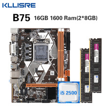 Kllisre B75 Desktop SATA3 Core I5 DDR3 NVME M.2 with 2500/2x8gb--16gb/1600mhz/..
