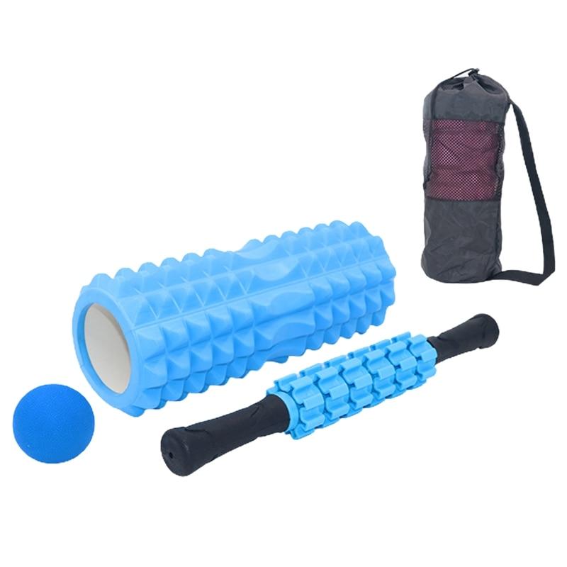 4 set Yoga column foam Yoga Pilates Fitness Foam Roller sports Train Gym Massage Exercise relax foam rolls Massage Ball Spiky