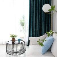 Estilo europeu cortinas para sala de jantar quarto personalizado cor sólida cortina cashmere italiano terminado moderno simples tecido
