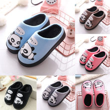 Children Cute Cotton winter Warm Home Shoes Slippers Baby Boys Girls Little Kid Shoes Cute Animal Kid Home Thickening Slippers(China)