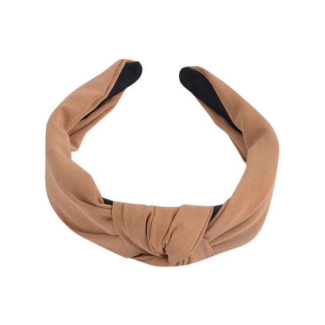 Women Elegant Top Knot Plaid Headband Hairbands Hair Holder Turban Fashion Candy Color Hair