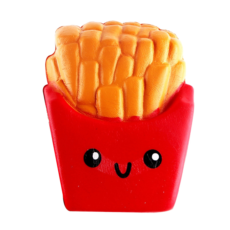 2020 NEW Style Squishies Kawaii Cartoon French Fries Chips Slow Rising Cream Scented Keychain Stress Relief Antistress Toys