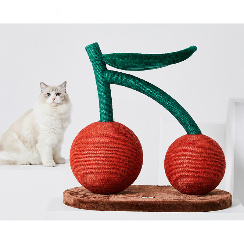 <font><b>Large</b></font> Cherry <font><b>Cat</b></font> Scratching Post Sisal Rope Abrasion Resistant <font><b>Cat</b></font> <font><b>Tree</b></font> Tower <font><b>Cat</b></font> Furniture <font><b>Cat</b></font> Scratcher Mascotas Kitten House image