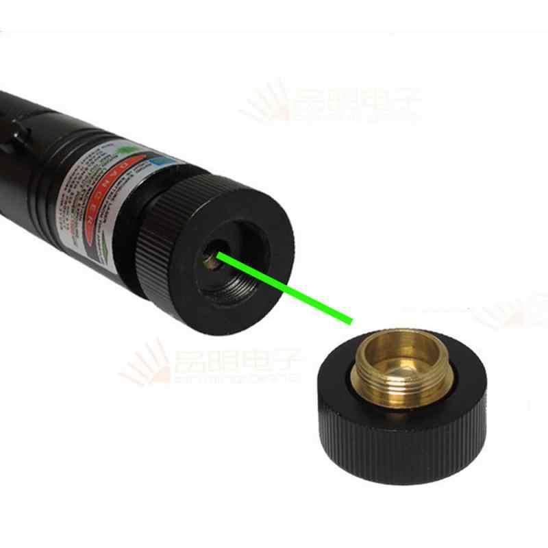 Bút Chỉ Laser Xanh 532nm 5 MW 303 Bút Laser Công Suất Cao Có Thể Điều Chỉnh Đầy Sao Đầu Đốt Hợp Lazer Không Pin # ED