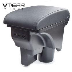 Vtear for VW jetta mk5 Golf mk5 6 armrest box car-styling accessories decoration center console USB interface arm rest interior