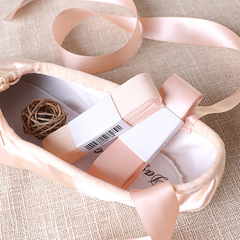 USHINE professional high quality satin ballet shoes ribbons laces ballet pointe shoe laces ballerina girls woman