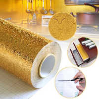 40W*100L CM Kitchen Wall Stove Aluminum Foil Oil-proof Stickers Anti-fouling High-temperature Self-adhesive Croppable Wallpaper