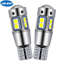 ASLENT W5W 3030-10SMD Car T10 LED 194 168 Wedge Replacement Reverse Instrument Panel Lamp White Blue Bulbs For Clearance Lights w5w 10 led 7020 smd car t10 led 194 168 wedge replacement reverse instrument panel lamp white blue bulbs for clearance lights