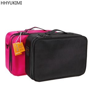 Image 2 - HHYUKIMI Double Layer Makeup Organizer Bag Professional Beautician Cosmetic Case Largest Travel Portable Waterproof Handbag
