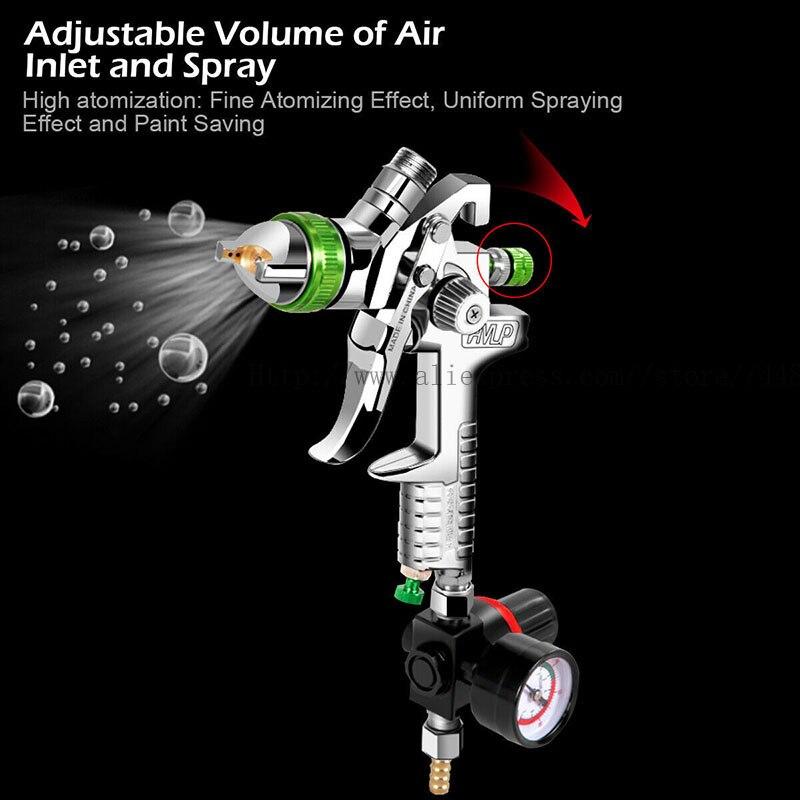 Tools : HVLP gravity spray gun air spray gun 2 5mm 1000CC cup professional automotive paint tools