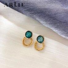 Arlie новый дизайн искусственная кожа простые круглые золотые