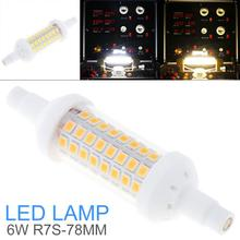 LED Light Bulbs 450LM 6W 64 LEDs 78mm AC 220-240V R7S SMD 2835 Mini 360 Degree Warm White Cool White Corn Light Halogen Lamp