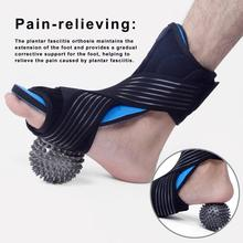 Plantar Fasciitis Night Splint Foot Orthosis Support Adjustable Ankle Stabilizer with Massage Ball Effective Relief