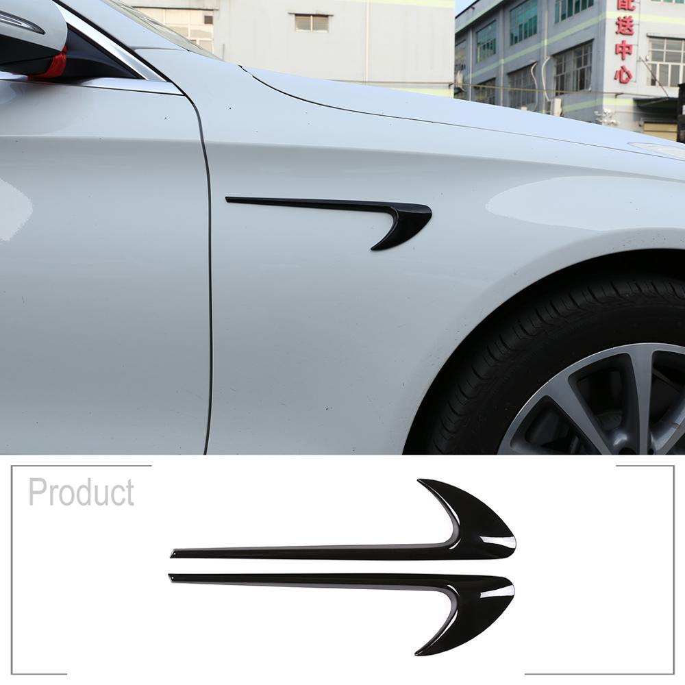 2 adet ABS krom araba yan çamurluk Trim için Mercedes Benz E sınıfı W213 C sınıfı W205 tamir E63S AMG aksesuarları