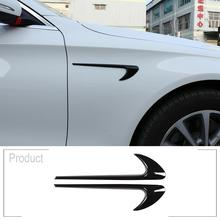 2pcs ABS Chrome Car Side Fender Trim For Mercedes Benz E Class W213 C Class W205 Refit E63S AMG Accessories