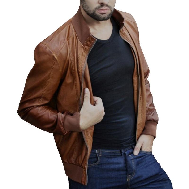 H139404278a854cc4a96411d6b28098ceg HEFLASHOR  Autumn Men Fashion Motorcycle Leather Jacket slim fit Coats Male Casaco Masculino Casual Zipper Black jacket
