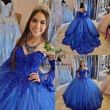 Женское платье принцессы с кружевной аппликацией Королевского
