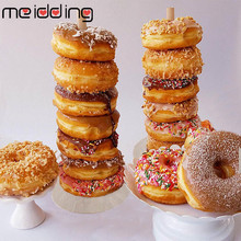 Wooden Donut Wall Holder Boards Stand Wedding Table Decorations Kids Birthday Party Favors Baby Shower Supplies