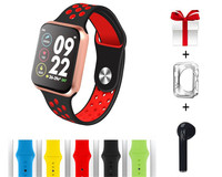 Smart watch F9 plus bluetooth headset ecg heart rate monitor smart watch is suitable for male and female iphone mi pkB75 68
