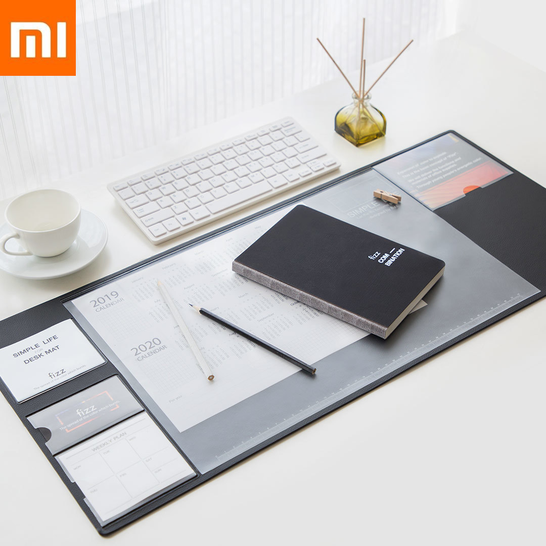 Xiaomi Mijia Fizz Multi Office Table Mat Non-slip Wearable Desk File Organizer Table Storage Memo Mat Xiomi Softwood Mouse Pad