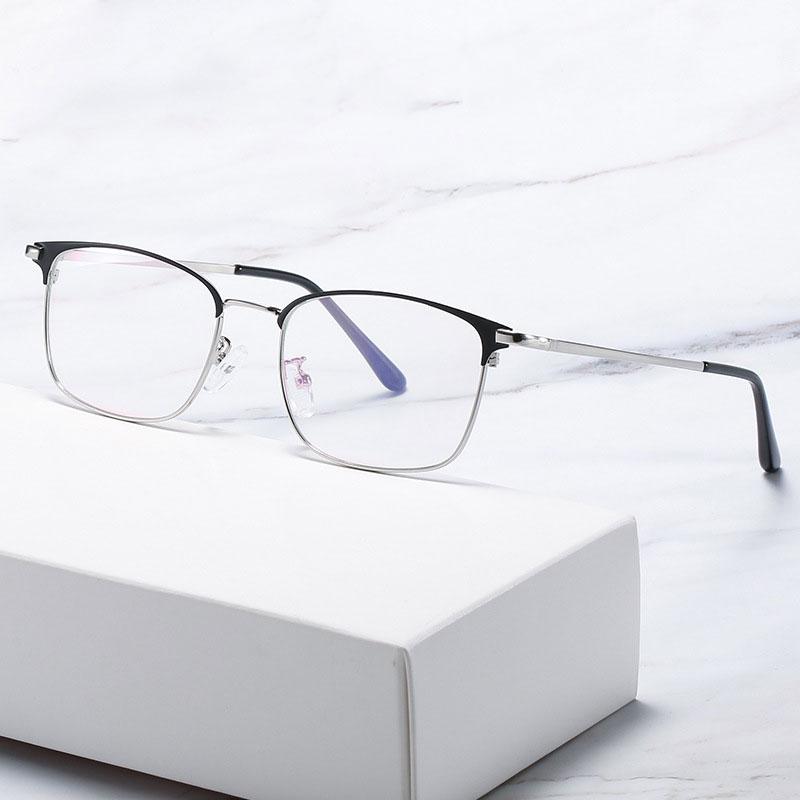 Купить мужские очки в деловом стиле с полной оправой металлическая