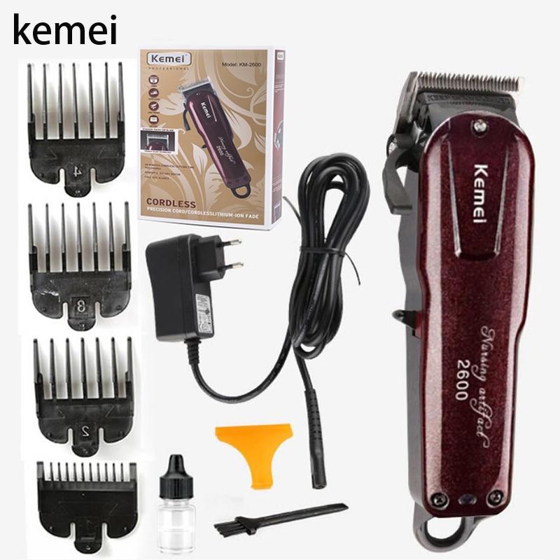 Kemei hair clipper cordless haircut men's beard razor hair trimmer electric Hair Clipper KM 2600 styling tool 5|Hair Trimmers| |  - title=