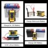 FOXSUR 12V 24V Car Battery Charger 6A 12 6V Lithium Battery Charger  amp  Maintainer 7-Stage Car  amp  Motorcycle Battery Charger discount