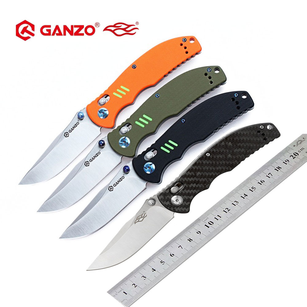 Firebird Ganzo F7501 440C G10 or Carbon Fiber Handle Folding knife Survival Camping tool Pocket Knife tactical edc outdoor tool