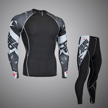The New 2020 Thermal underwear men sets Compression underwear Men fitness clothing MMA long