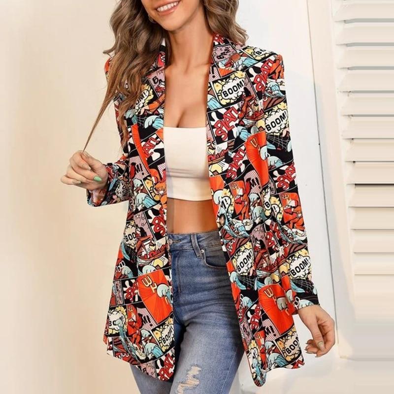 H13948e85f32a4c129347ffc535dfbdb2J Fashion Trend Women Lapel Leopard Print Long Sleeves Suit Jacket Elegant Fall Winter Office Lady Cardigan Coat Casual Streetwear